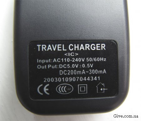 Travel charger - зарядное устройство для mp3/mp4 плеера