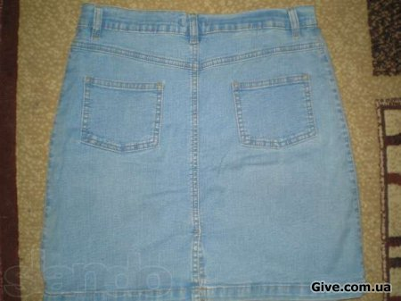 Юбка джинсовая 46 размер