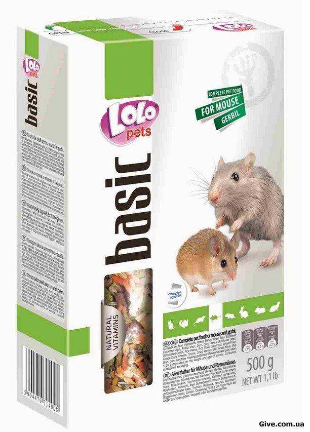 Lolo Pets. Полнорационный корм для мышей , песчанок .
