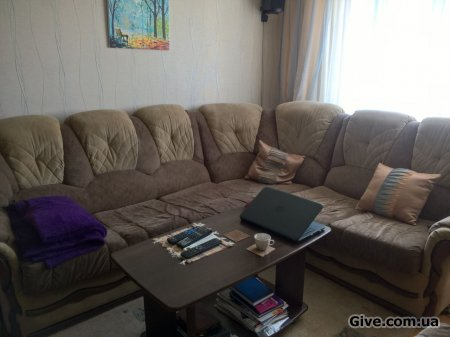 Мягкий уголок(диван+кресло)
